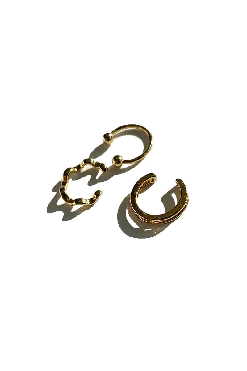 SIMPLE Ear cuff_(3pcs1set) (2color)
