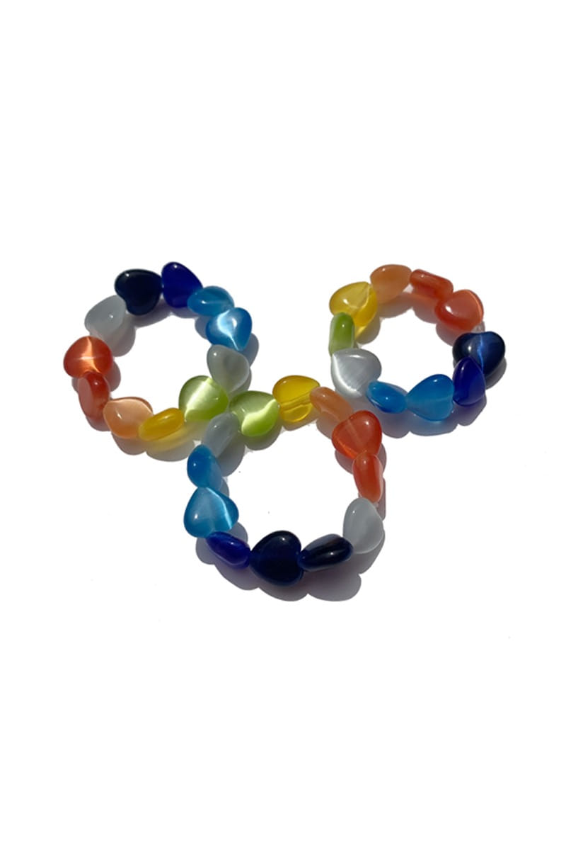 Rainbow Hearts Ring (3Size)