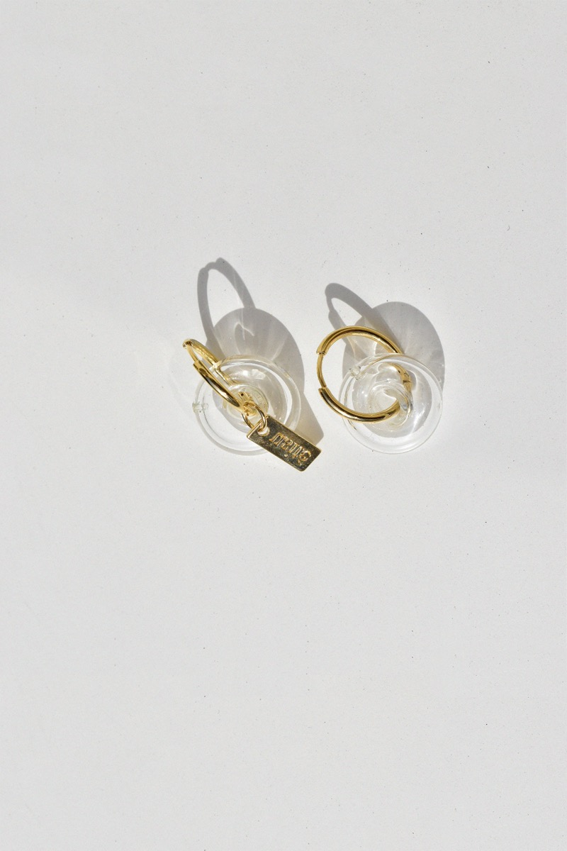 2Ways, White Glass Earring