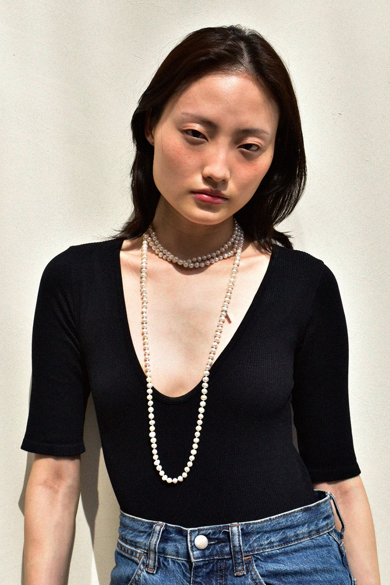 Pearl Layerd Long Necklace